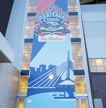 Heritage Classic Mural at IG Field