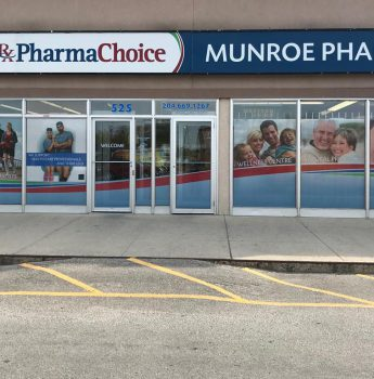 Window Graphics for Munroe Pharmacy