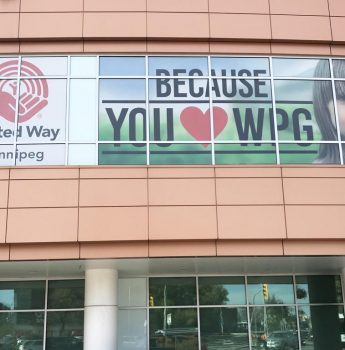 Window Graphics for United Way Winnipeg