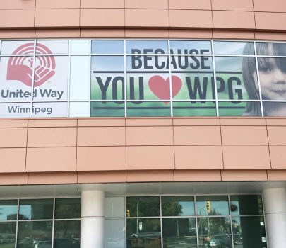 Window Graphics for United Way Winnipeg